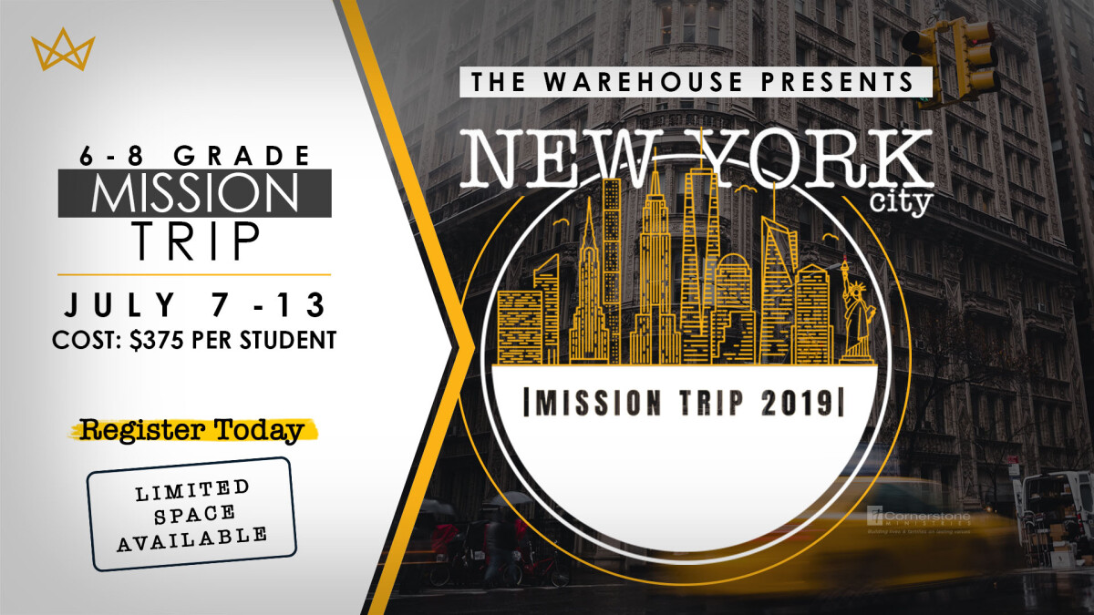 2019 New York City Middle School Mission Trip
