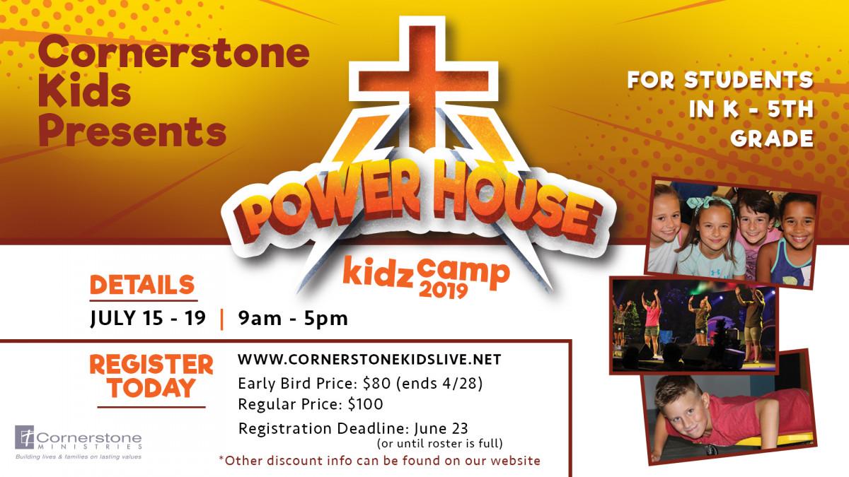 Cornerstone KIDZ CAMP 2019