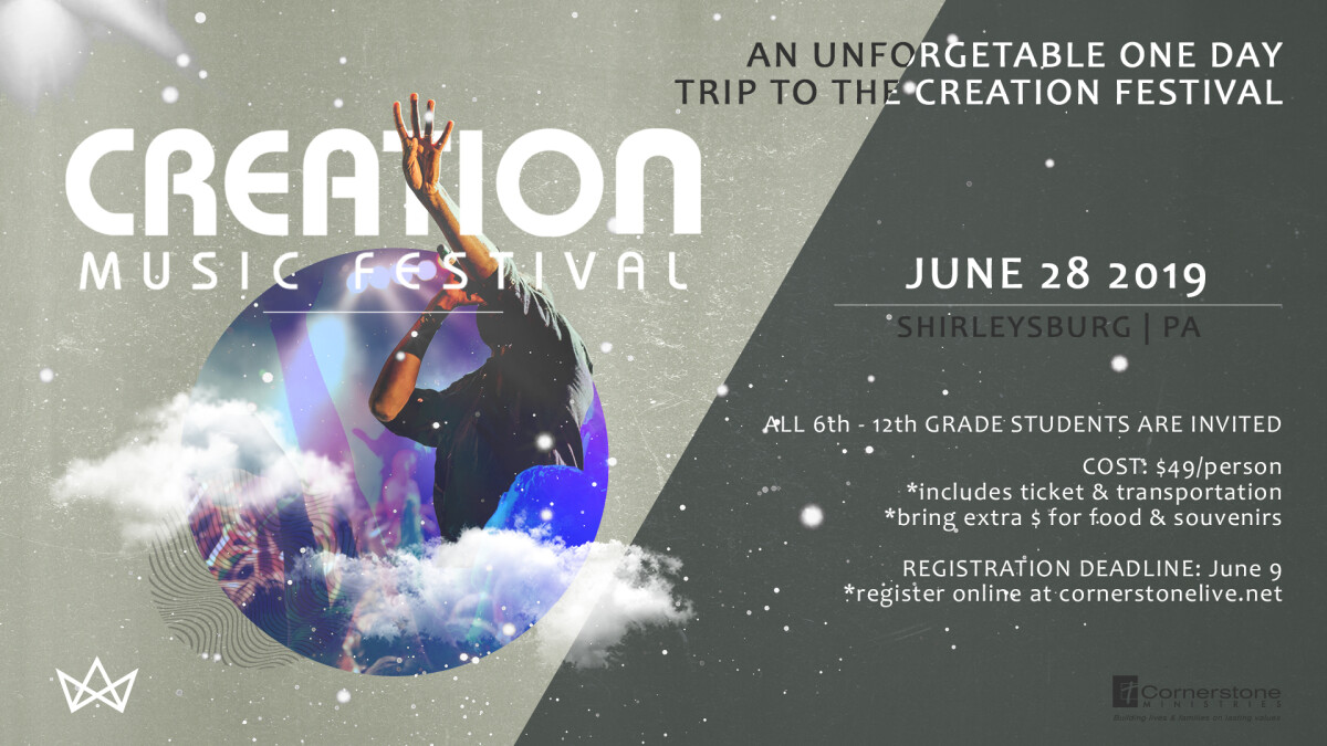 Student Ministries Creation Festival day trip